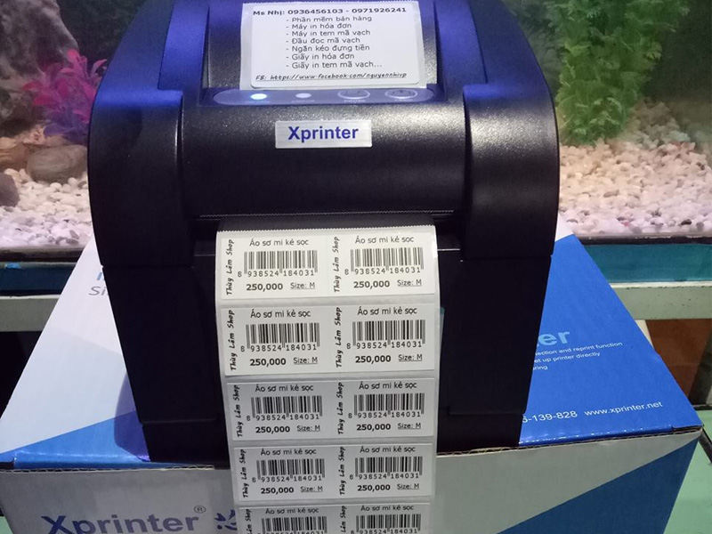 Khắc phục lỗi máy in tem