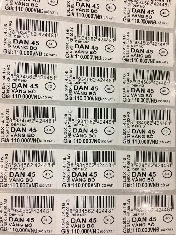 Tại sao nên sử dụng tem nhãn mã vạch cho cửa hàng